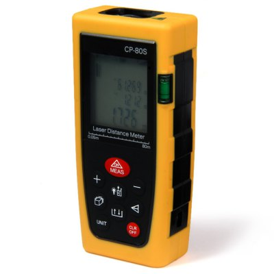 CP-80S 80 Meters Portable High Precision Laser Distance Meter with LCD Display