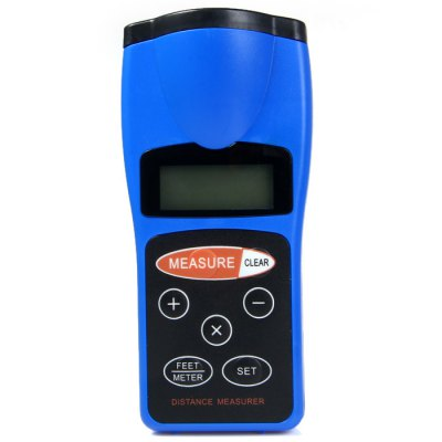 CP-3008 Original Handheld Infrared Ultrasonic Distance Meter + Laser Pointer Digital Tape Range Finder Measurer to 18M