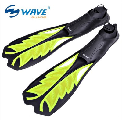 WAVE 6860 Adjustable Snorkeling Diving Flippers Rubber Swimming FinsSwimming<br>WAVE 6860 Adjustable Snorkeling Diving Flippers Rubber Swimming Fins<br><br>Brand: WAVE<br>Material: Silicone<br>Gender: Unisex<br>Size: L, M, S<br>Color: Yellow, Lake Blue<br>Product weight   : 1.100 kg<br>Package weight   : 1.170 kg<br>Product size (L x W x H)   : 59.0 x 10.0 x 7.5 cm / 23.19 x 3.93 x 2.95 inches<br>Package size (L x W x H)  : 62.0 x 13.0 x 10.5 cm / 24.37 x 5.11 x 4.13 inches<br>Package Contents: 2 x WAVE Swimming Flippers