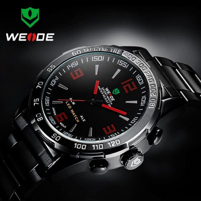 ФОТО Weide WH1009 Japan Quartz Dual-movt LED Sports Watch 30M Water Resistance