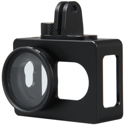 Фотография Practical Metal Material Camera Protective Frame with UV 37mm Filter Lens Kit for Xiaomi Yi Sports Camera