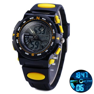 ФОТО Lasika 30M Water Resistance Double Movt LED Sports Military Watch
