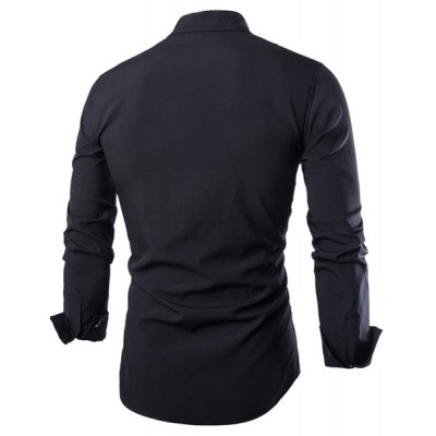 Trendy Shirt Collar Irregular Color Block Splicing Slimming Long Sleeve Cotton Blend Shirt For MenMens Shirts<br>Trendy Shirt Collar Irregular Color Block Splicing Slimming Long Sleeve Cotton Blend Shirt For Men<br><br>Shirts Type: Casual Shirts<br>Material: Cotton,Polyester<br>Sleeve Length: Full<br>Collar: Turn-down Collar<br>Weight: 0.249KG<br>Package Contents: 1 x Shirt