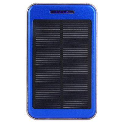 Гаджет   6500mAh Dual USB Outputs Mobile Power Bank Solar Charger with LED Camping Light and Currency Detector Function iPhone Power Bank