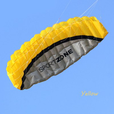 2.5m Huge Frameless Stunt Parafoil Flying Kite Dual Lines Control with 2 Line Board + 2pcs 30m Line