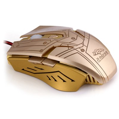 Rhorse RH1980 6 Keys Mechanical USB Wired Gaming Mouse 7-Color Backlight 3200DPI for E-sports LOL CF