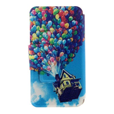 Гаджет   Kinston Card Holder PU Leather Phone Cover Case with Colorful Balloons Design for Huawei Ascend P7 Other Cases/Covers