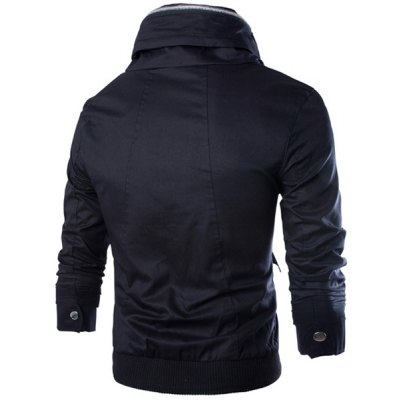 Fashion Stand Collar Multi-Pocket Zipper Design Slimming Long Sleeve Cotton Blend Jacket For MenMens Jakets &amp; Coats<br>Fashion Stand Collar Multi-Pocket Zipper Design Slimming Long Sleeve Cotton Blend Jacket For Men<br><br>Clothes Type: Jackets<br>Material: Polyester, Cotton<br>Collar: Mandarin Collar<br>Clothing Length: Regular<br>Style: Fashion<br>Weight: 0.671KG<br>Sleeve Length: Long Sleeves<br>Season: Winter, Fall, Spring<br>Package Contents: 1 x Jacket