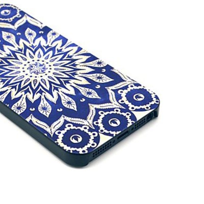ФОТО Kinston PC Material Back Cover Case with Blue Sunflower Pattern for iPhone 5 5S