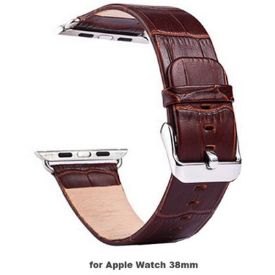TOCHIC Alligator Pattern Genuine Leather Band for Apple Watch 38mm