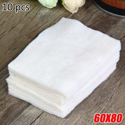 10 Pieces / Pack 60 x 80mm Organic Cotton for E-Cigarette Atomizer Wicking