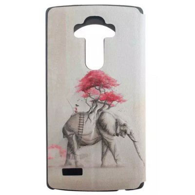 ФОТО Elephant Pattern Cover Case with View Window Stand for LG G4