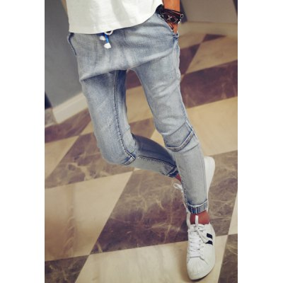 Гаджет   Slimming Fashion Lace-Up Splicing Design Light Color Beam Feet Men