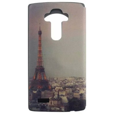 ФОТО Paris Tower Pattern Cover Case with View Window Stand for LG G4