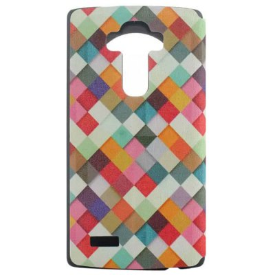 Geometrical Painting Pattern Cover Case with View Window Stand for LG G4