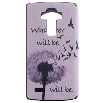 Dandelion Pattern Cover Case with View Window Stand for LG G4