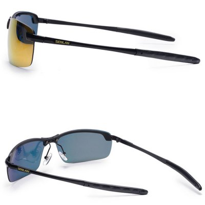 SENLAN 9327 TAC Polarized Lens Anti-UV Sunglasses Eyeswear for Outdoor Cycling DrivingCycling Sunglasses<br>SENLAN 9327 TAC Polarized Lens Anti-UV Sunglasses Eyeswear for Outdoor Cycling Driving<br><br>Brand: SENLAN<br>Type: Cycling Glasses<br>Features: UV Protection, Polarized<br>Gender: Unisex<br>Anti-UV: Yes<br>Anti-UV level: UV400<br>Lens color: Gray, Red, Blue, Yellow<br>Frame color: Black, Gray<br>Lens width: 6.5cm<br>Lens height: 3.8cm<br>Nose bridge width: 1.5cm<br>Glasses width: 14.3cm<br>Earstems length: 13.8cm<br>Frame material: Metal<br>Product weight   : 0.030 kg<br>Package weight   : 0.070 kg<br>Product size (L x W x H)   : 14.3 x 13.8 x 3.8 cm / 5.62 x 5.42 x 1.49 inches<br>Package size (L x W x H)  : 17.3 x 4.0 x 6.8 cm / 6.80 x 1.57 x 2.67 inches<br>Package contents: 1 x SENLAN 9327 Sunglasses