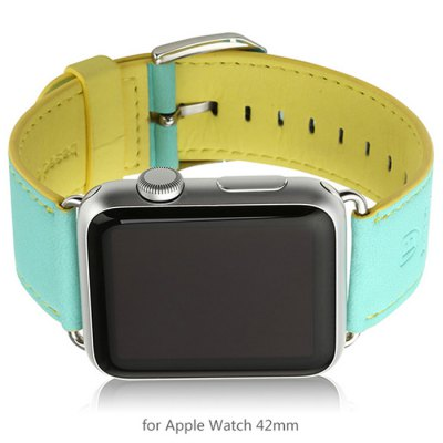 Baseus Contrast Color Leather Band Strap for Apple Watch iWatch 42mm