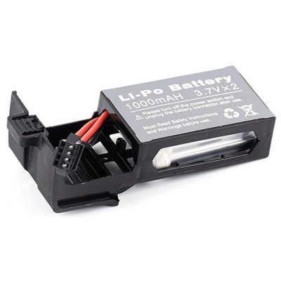 Spare 3.7V 1000mAh Battery with Base for UDI U818S Remote Control Quadcopter