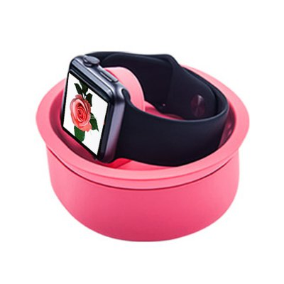 JCPAL Charging Bowl  Watch Stand Holder for Apple WatchApple Mounts &amp; Holders<br>JCPAL Charging Bowl  Watch Stand Holder for Apple Watch<br><br>Brand: JCPAL<br>Type: Holder<br>Vailable brand: iWatch<br>Features: Sinking bowl design<br>Material: Fluororubber<br>Color: Pink, Blue, Gray<br>Product weight: 0.060 kg<br>Package weight: 0.11 kg<br>Product size (L x W x H) : 9.9 x 9.1 x 6.6 cm / 3.89 x 3.58 x 2.59 inches<br>Package size (L x W x H): 12 x 11 x 8 cm / 4.72 x 4.32 x 3.14 inches<br>Package Contents: 1 x Charging Stand for Apple Watch