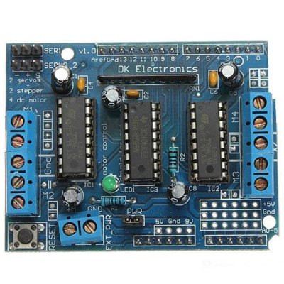 L293D Motor Drive BoardOther Accessories<br>L293D Motor Drive Board<br><br>Mainly Compatible with: Ardunio<br>Package Contents: 1 x L293D Motor Drive Expansion Shield Board Module<br>Package Size(L x W x H): 13.00 x 9.00 x 3.00 cm / 5.11 x 3.54 x 1.18 inches<br>Package weight: 0.040 kg<br>Product Size(L x W x H): 6.80 x 5.30 x 2.00 cm / 2.67 x 2.08 x 0.79 inches<br>Product weight: 0.027 kg<br>Type: L293D Motor Drive Expansion Shield Board Module