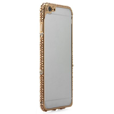 Гаджет   Fashionable Metal Bumper Frame Case with Diamond Design for iPhone 6 Plus - 5.5 inch iPhone Cases/Covers