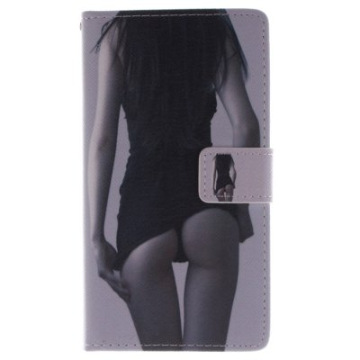 ФОТО Sexy Girl Pattern Cover Case with Stand for Samsung Galaxy Note Edge N9150