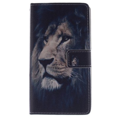 ФОТО Lion Pattern Cover Case with Stand for Samsung Galaxy Note Edge N9150