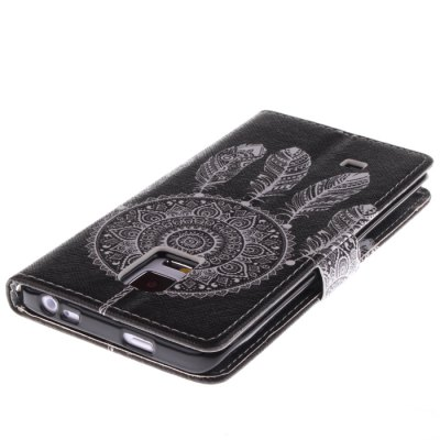 Фотография Black Dreamcatcher Pattern Cover Case PU and TPU Material for Samsung Galaxy Note Edge N9150