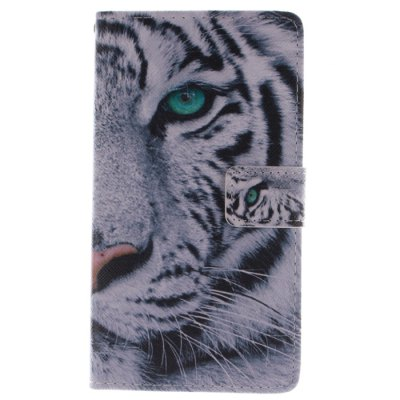 ФОТО The Tiger Pattern Cover Case PU and TPU with Stand for Samsung Galaxy Note Edge N9150