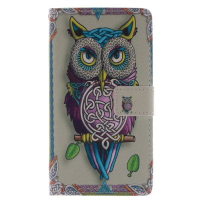 ФОТО The Owl Pattern Cover Case PU and TPU Material for Samsung Galaxy Note Edge N9150