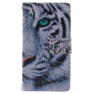 ФОТО The Tiger Pattern Cover Case with Support and Card Holder for Samsung Galaxy S4 I9500