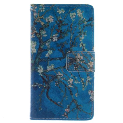 Гаджет   Apricot Blossom Pattern Cover Case with Stand and Card Slot for Samsung Galaxy S4 I9500 Samsung Cases/Covers