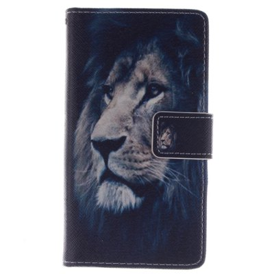 ФОТО Blue Lion Pattern Cover Case with Stand for Samsung Galaxy S4 I9500