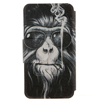 ФОТО Smoking Monkey Pattern Cover Case PU Leather with Stand for Nokia Lumia 625
