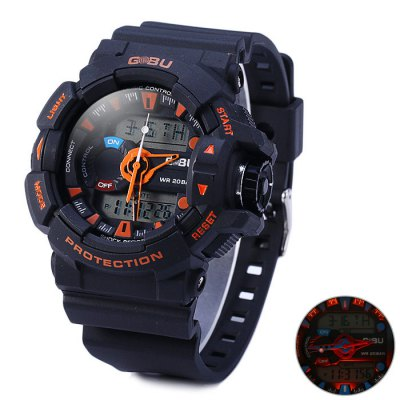 Gobu 1535 30M Water Resistance Dual Movt LED Sport Watch