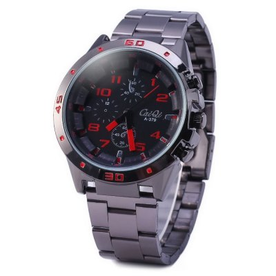 ФОТО CaiQi A379 Stainless Steel Band Male Quartz Watch