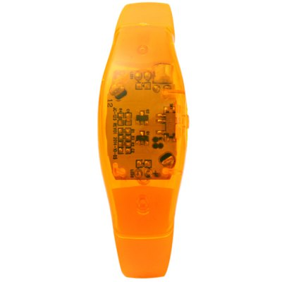 Фотография Voice Control Silicon LED Electronic Wrist Strap Bracelet Hand Ring for Party Concert Festival