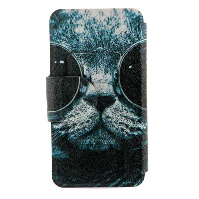 ФОТО Sunglass Cat Pattern Cover Case with Stand and Card Slot for Motorola moto E