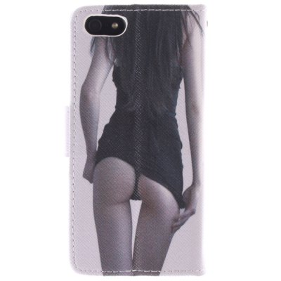 ФОТО Sexy Girl Pattern Cover Case PU and TPU with Stand for iPhone 5 / 5S