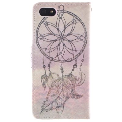 ФОТО Dreamcatcher Pattern Cover Case PU and TPU with Stand for iPhone 5 / 5S