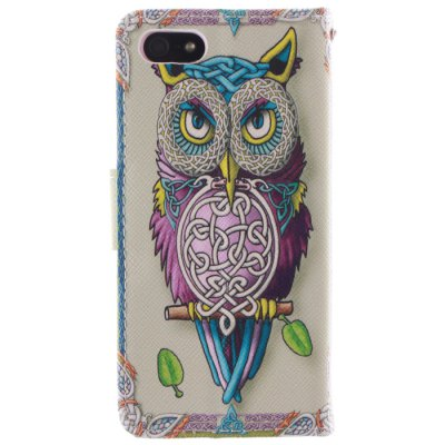 Owl Design Cover Case with Support for iPhone 5 / 5s