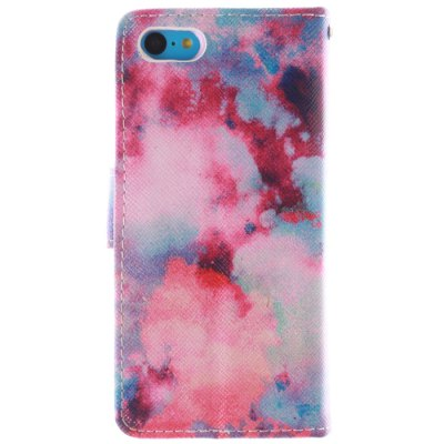 ФОТО Color Cloud Pattern Cover Case PU and TPU with Stand for iPhone 5C