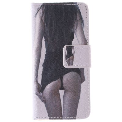 ФОТО Sexy Girl Pattern Cover Case PU and TPU with Stand for iPhone 5C