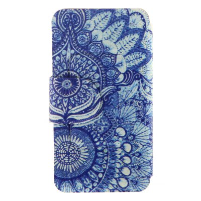 ФОТО Retro Sunflower Eye Pattern Cover Case PU and TPU with Stand for iPhone 6 - 4.7 inch