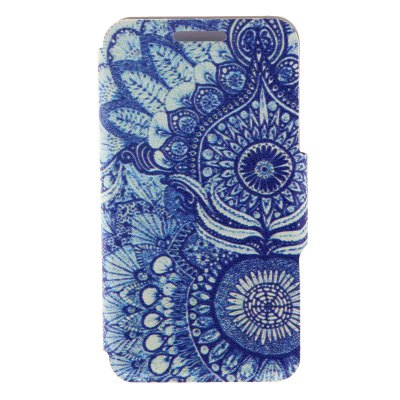 Retro Sunflower Eye Pattern Cover Case PU and TPU with Stand for iPhone 6 - 4.7 inch