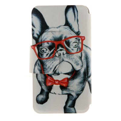 ФОТО Glass DogPattern Cover Case PU and TPU with Stand for iPhone 6 - 4.7 inch