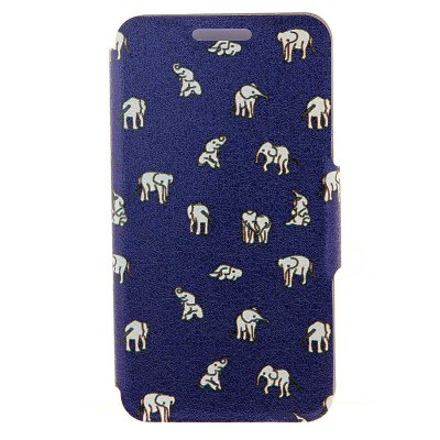 Indian Elephants Pattern Cover Case with Support for iphone 6 - 4.7 inch