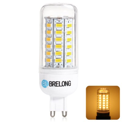 BRELONG G9 12W 56 SMD 5730 3000 - 3500K LED Corn Bulb