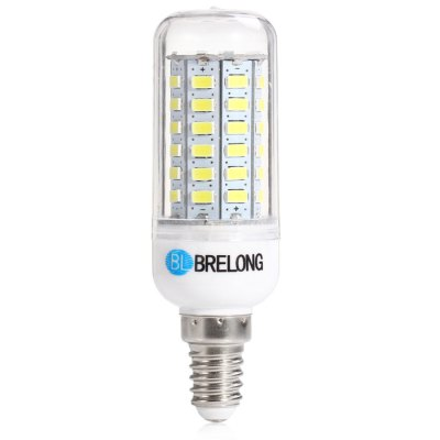 BRELONG E14 LED Corn LampLED Light Bulbs<br>BRELONG E14 LED Corn Lamp<br><br>Brand : BRELONG<br>Base Type: E14<br>Type: Corn Bulbs<br>Output Power: 12W<br>Emitter Types: SMD 5730<br>Total Emitters: 56<br>Actual Lumen(s): 1300Lm<br>CCT/Wavelength: 6000-6500K, 3000-3500K<br>Voltage (V): AC 220-240<br>Features: Energy Saving, Long Life Expectancy<br>Function: Studio and Exhibition Lighting, Commercial Lighting, Home Lighting<br>Available Light Color: White, Warm White<br>Sheathing Material: PC<br>Product Weight: 0.031 kg<br>Package Weight: 0.067 kg<br>Product Size (L x W x H): 8.5 x 2.5 x 2.5 cm / 3.34 x 0.98 x 0.98 inches<br>Package Size (L x W x H): 11 x 4 x 4 cm / 4.32 x 1.57 x 1.57 inches<br>Package Contents: 1 x BRELONG E14 SMD 5730 LED Light Bulb